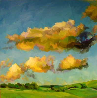 Paul Wright Landscape with Yellow Clouds