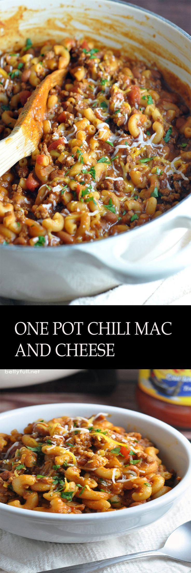 One Pot Chili Mac and Cheese – two favorite comfort foods come together in this super easy, one-pot dish that the whole family will go crazy