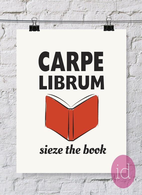 Book Lover's Quote Typography Art Print Carpe by inkanddolly, $12.00