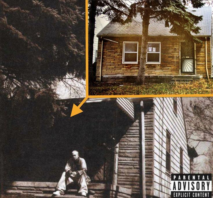 Old Eminem CD photo shoot photos
