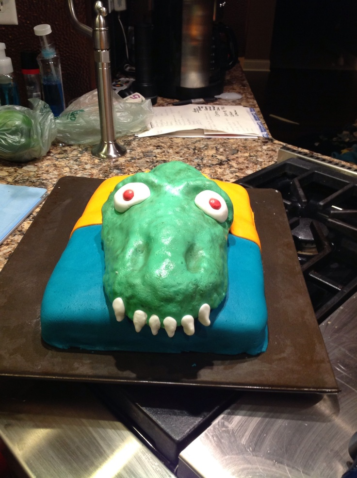 how to make a dinosaur out of rice krispie treats