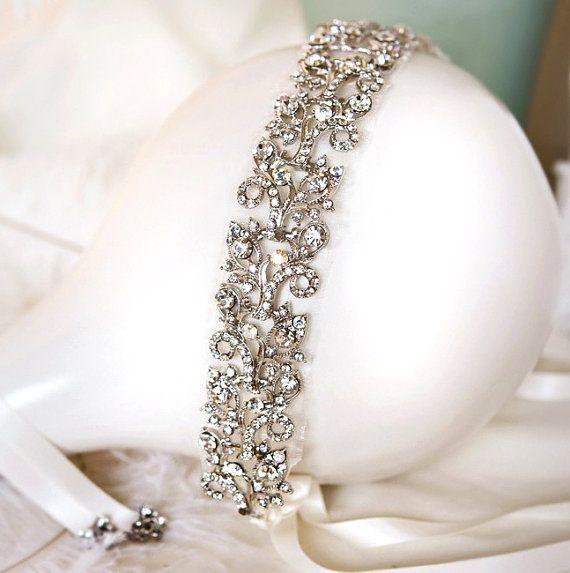 Gatsby Wedding Headband 1920s Bridal Hairband by LottieDaDesigns, $135.00