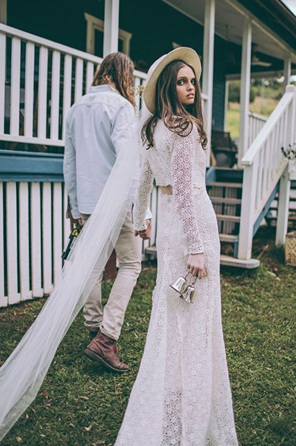 15 Style Moves For The Alt-Bride #refinery29  http://www.refinery29.com/alternative-bridal-style#slide-3  Consider Haberdashery We're suckers for a beautiful mantilla veil, but the delicate detail may not be everyone's cup of tea. Widen your headgear possibilities with a structured, stiff hat that will be a lot easier to balance on your head than lace will....