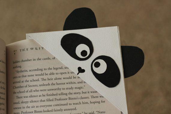 marque page panda en papier