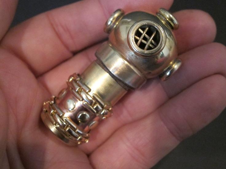 Steampunk Diver 16Gb USB drive. $100.00, via Etsy. A USB drive!!