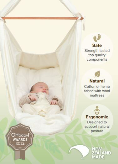 Give your baby the best nights sleep with natural fabric baby hammocks by Natures Sway.  See us at stand F32  at #PBCExpo #Melbourne #babyhammock