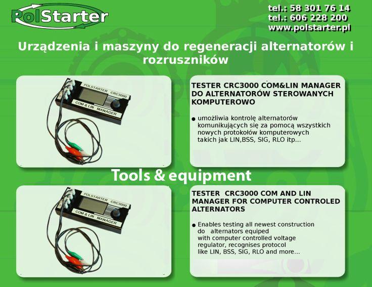 ⚫ W naszej ofercie znajdzą Państwo tester CRC300 COM&LIN manager do alternatorów sterowanych komputerowo 💻  ⚫Więcej informacji w linku:  ➜ http://www.polstarter.pl/maszyny-i-urzadzenia,52,pl.html  ✔ Odwiedź także naszą stronę internetową i sklep internetowy: ➜ www.polstarter.pl ➜ www.sklep.polstarter.pl  ⚫ KONTAKT: 📲 792 205 305 ✉ allegro@polstarter.pl  #rozrusznik #alternator #rozruszniki #alternatory #samochód #samochody #motoryzacja #części #samochodowe #oferta #maszyny #urządzenia