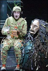 A scene from Julie Taymor's production of W.A. MOZART Die Zauberflöte, K. 620 (The Magic Flute)