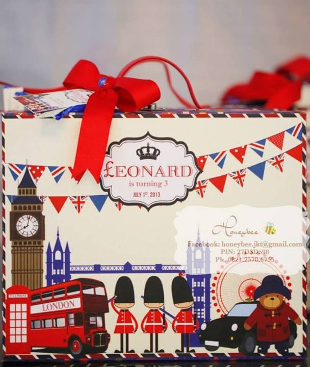 London birthday theme goodie bag