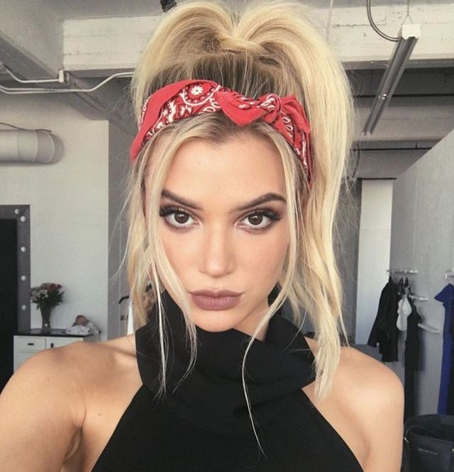 Hairstyles With Bandana Magnificent 215 Best Biker Chick Style Images On Pinterest  Bandana Hairstyles