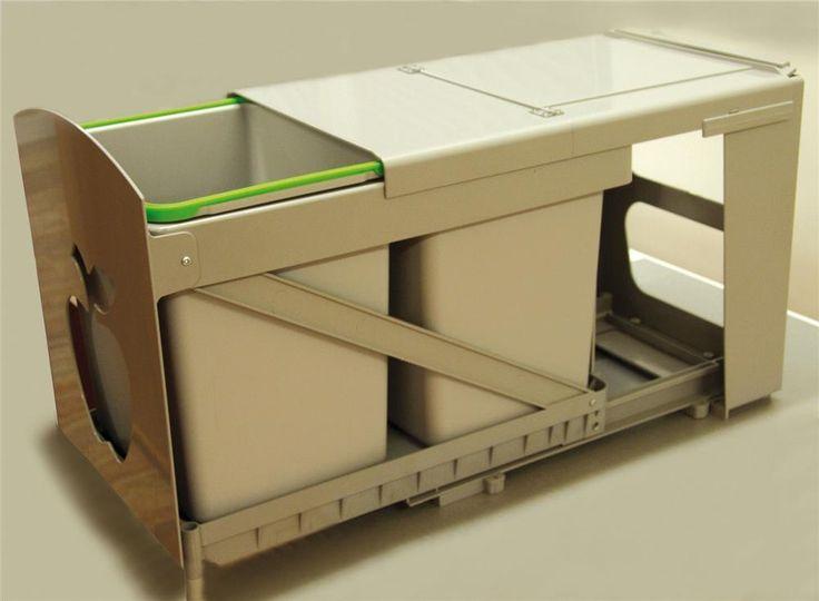 poubelle de cuisine encastrable 2x16 litres cacts001. Black Bedroom Furniture Sets. Home Design Ideas