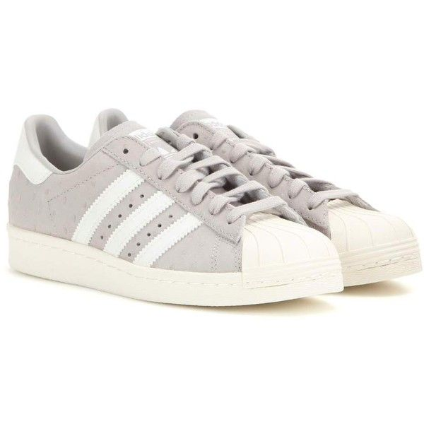 grey leather adidas trainers