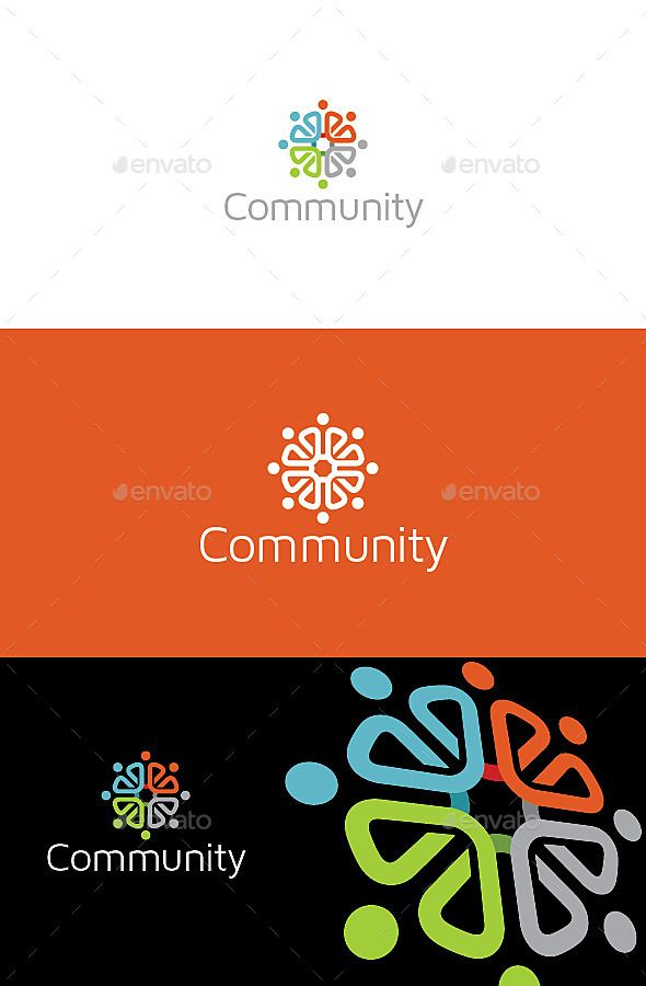 Community Logo — Vector EPS #people #group • Available here → https://graphicriver.net/item/community-logo/11039703?ref=pxcr