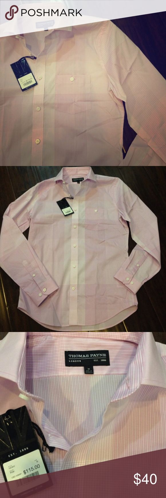 Thomas Payne Dress Shirt Pink plaids Dress Shirt Thomas payne Shirts Dress Shirts
