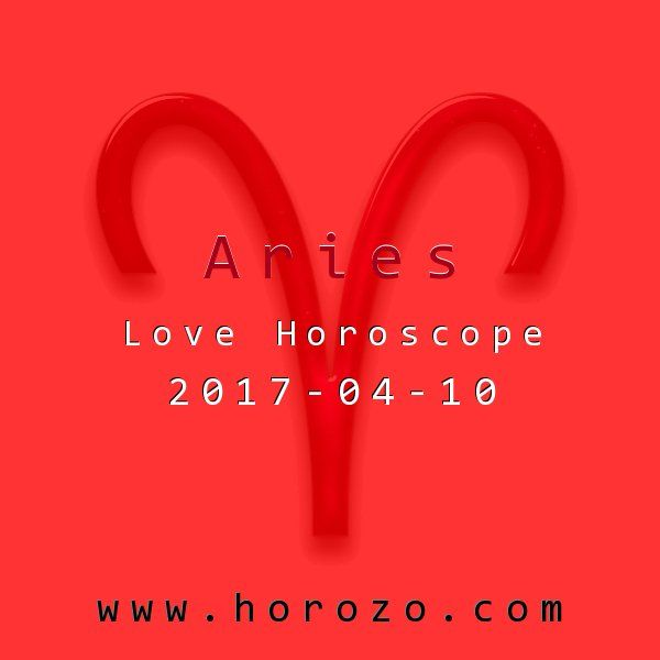 Aries Love horoscope for 2017-04-10: The energy's mellow, while you may be far from it. Do something that helps you chill out: get some exercise, watch a movie with a friend, do some knitting. Focusing on your love life won't expedite it right now..aries