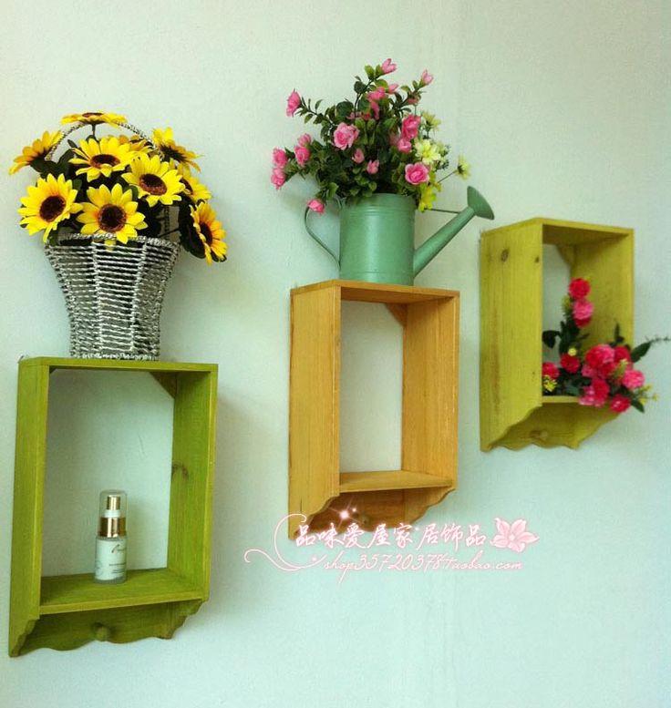 moda rustico solido assicella di legno mensola sporgenza decorazione cornice muoni accessori per la casa in da su Aliexpress.com