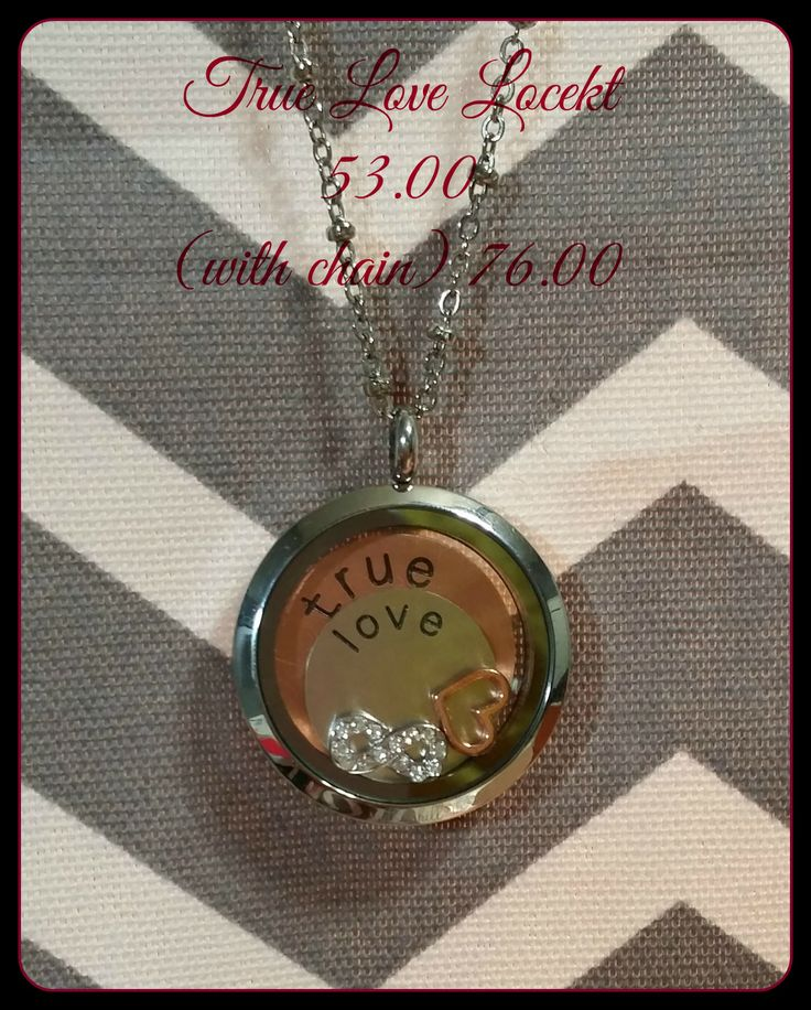 True Love Locket 53.00 with chain shown 76.00
