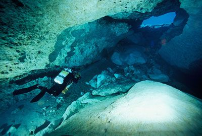 Extreme Sports Image Gallery Cave diving is one of the most challenging -- and dangerous -- activities in the world. See more extreme sports pictures.