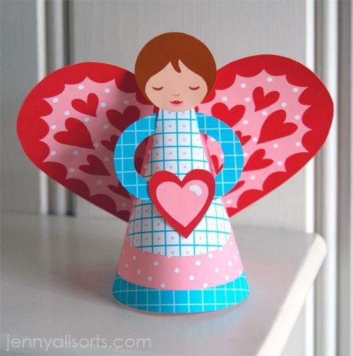 Free Printable Valentine's Day Angel