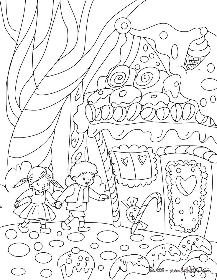 "iColor ""Gingerbread Houses"" ~ Hansel and Gretel 820x1060"