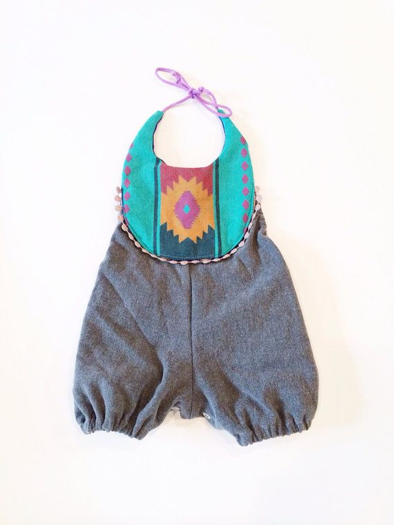 Southwestern boho infant and toddler romper by thebrassrazookids, $48.00