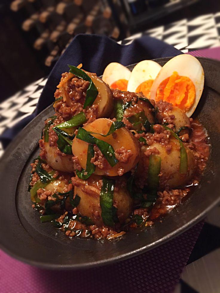 チョッパー ホヌ's dish photo みったんさんの料理 新じゃがと卵の韓国風 辛みプラスで旨旨   http://snapdish.co #SnapDish #レシピ #おつまみ #野菜料理 #肉料理