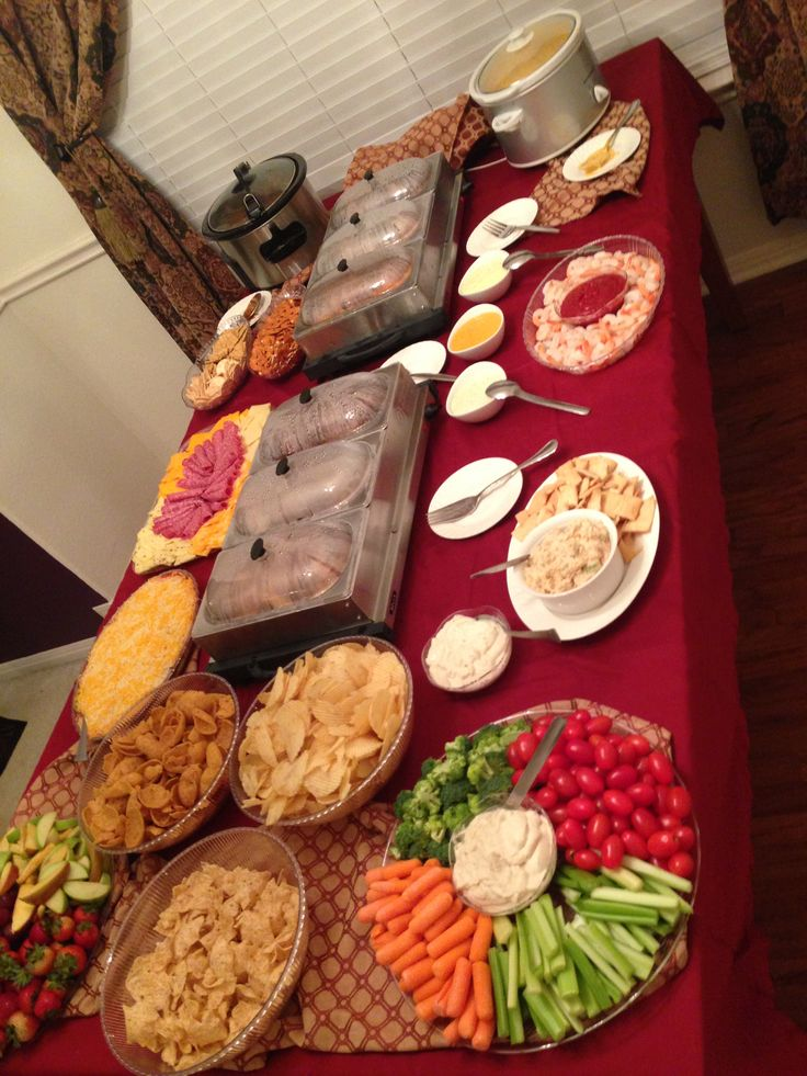 Fight night appetizer bar!