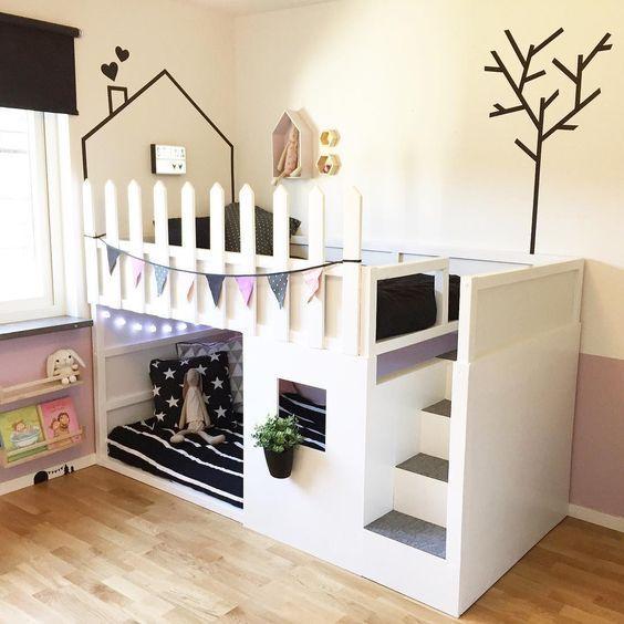 Home Decorating Ideas Bedroom Mommo Design Ikea Kura Hacks Home