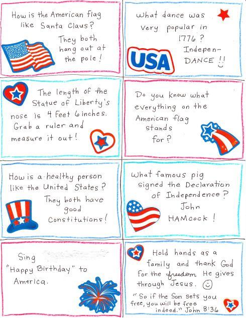 4 Independence Day jokes | Lunch Jokes | Pinterest