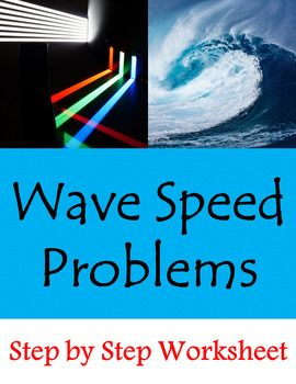 - simple problems to introduce wave speed calculations- columns for formula, work, and answer with units- no need for calculators...perfect way to review basic math skills- recommended for Physical Science, IPC, General Science, and Conceptual Physics (algebra based)