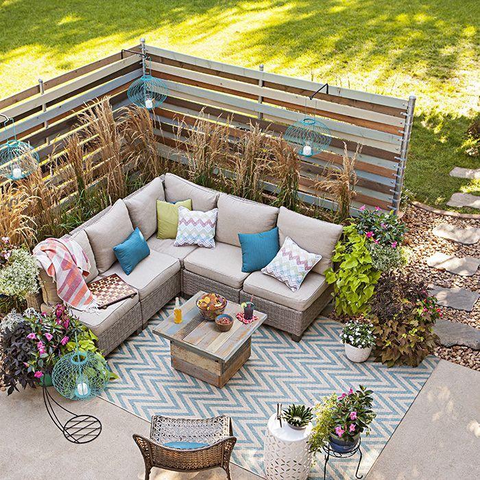 Backyard Privacy Ideas Woven Corner Privacy Screens Diy Terrasse Terassenentwurf Outdoor Dekorationen