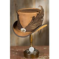 Steamy Collection of Steampunk Hats for Sale: Steampunk Masquerade Leather Top Hat, BROWN,  $399.00 #steampunk #hat
