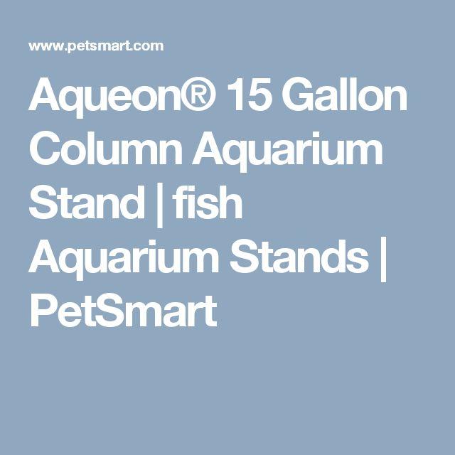 Aqueon 15 gallon column aquarium stand fish aquarium for 15 gallon fish tank stand