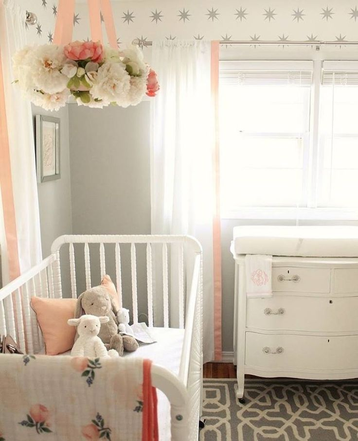 The cutest peach & grey nursery @courtneymbrowning created for her baby girl! Share your nurseries with us on #everydayIBT and by submitting them via the link in our bio!