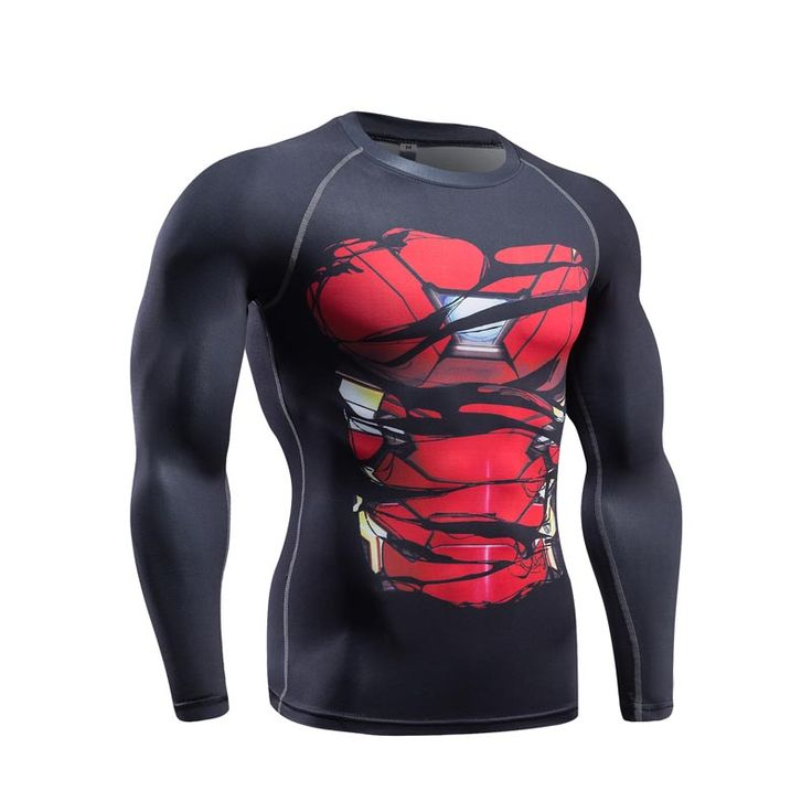 awesome Longsleeve Supehero Rashguard Mark Armor Iron Man Costume  -  This t-shirt looks like natural superhero gear! Fits perfectly rash guard tee shirt is ideal for sport and daily usage. This shirt contains lycra, which allows  material  stretch to the several sizes and comes back to normal size. Perfectly breath tissue, the color doesn't fade over time.