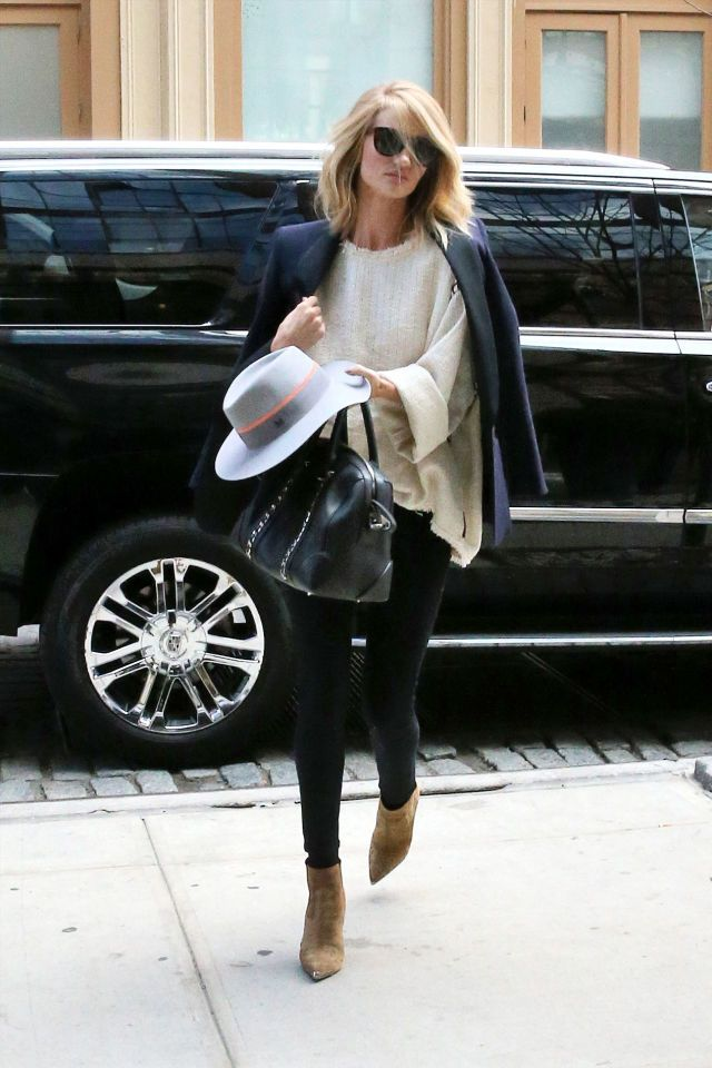 Arriving at the Crosby Hotel in New York City carrying a Givenchy bag.   - ELLE.com