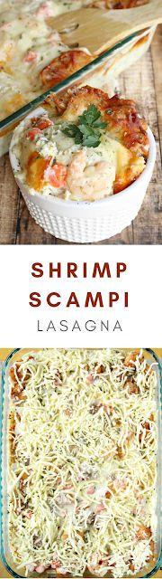 Shrimp Scampi Lasagna   Savoury Recipes