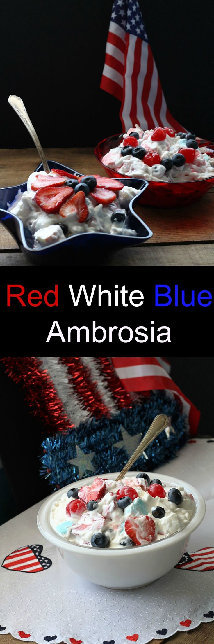 Red White and Blue Ambrosia