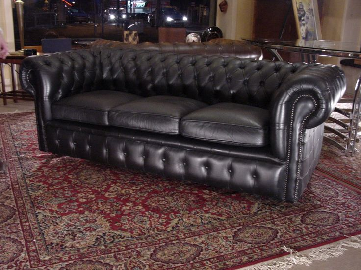 canap chesterfield noir anglais dernier arrivage de f vrier 2016. Black Bedroom Furniture Sets. Home Design Ideas