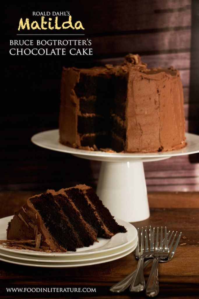 Bruce Bogtrotters Chocolate Cake from Roald Dahl's Matilda | Food in Literature