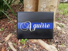 THIN BLUE LINE Personalized Police Wood Wall Plaques by LEOWONDUTY