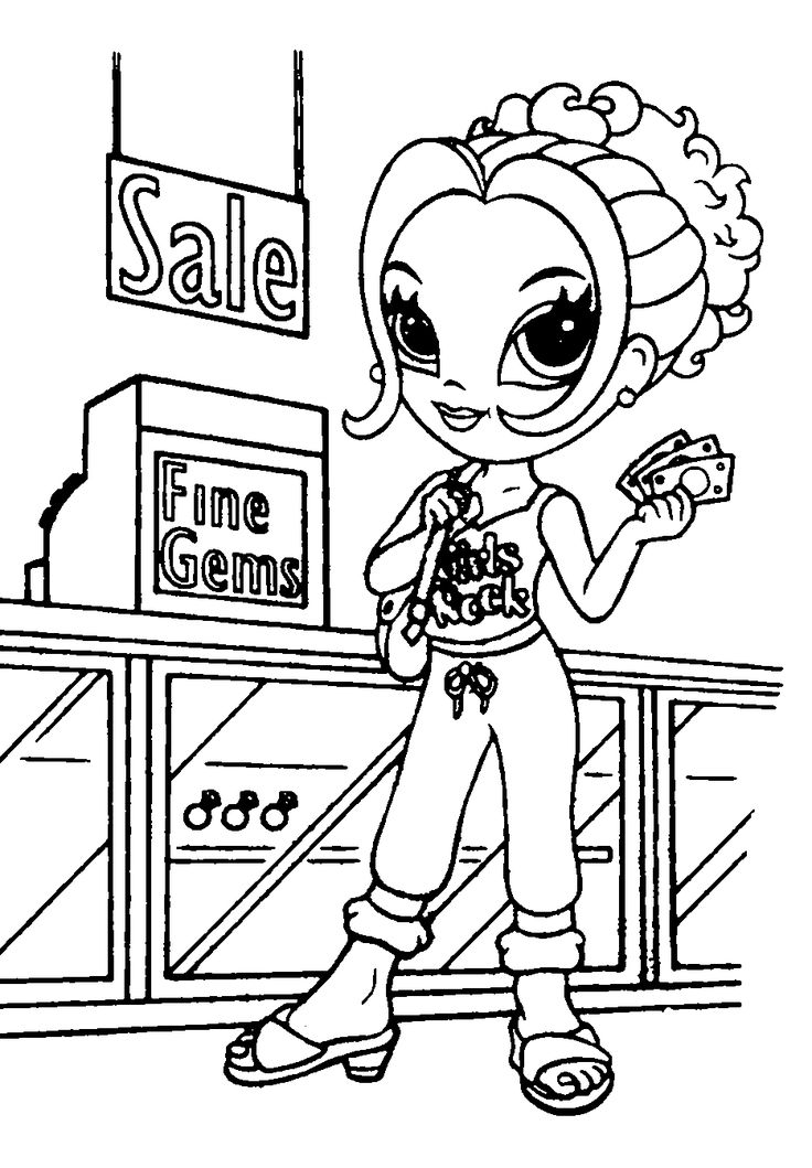 Coloring Sheets,Lisa Frank Coloring Pages, Girl Coloring