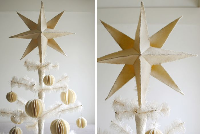 DIY felt star tree topper from The Purl Bee