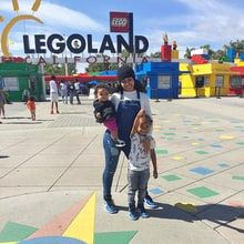 Blac Chyna Takes Son King and Daughter Dream to Legoland: Cute Pics