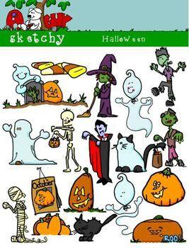 Halloween Themed Clipart      $