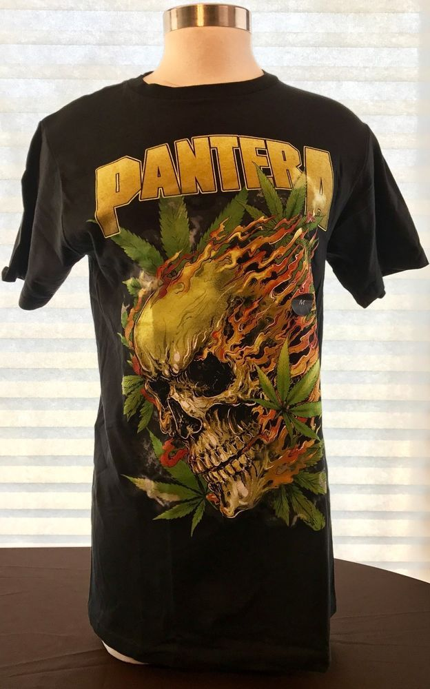 PANTERA Skull Leaf Classic Heavy Metal Rock Band T-shirt New W Tags Men's Sizes