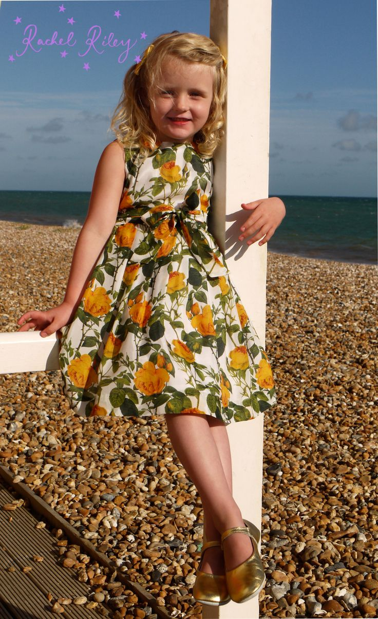 Rachel Riley Spring / Summer 2013 - gorgeous rose print silk dress, can't wait to get my hands on the ladies equivalent!
