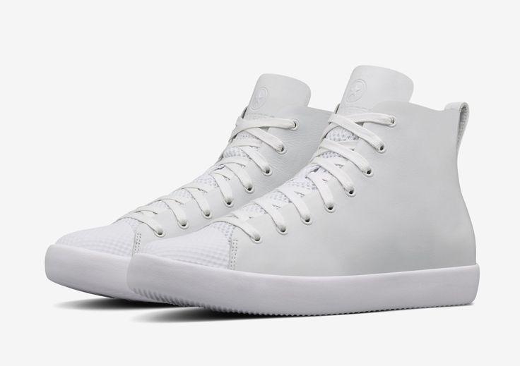 Converse All Star Modern High Top HTM — kotníkové boty — dámské, pánské — bílé — kožené tenisky — Conversky #converse #allstar #nikelab #white #sneakers #shoes