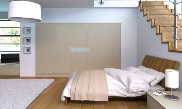 Ultragloss Metallic Champagne Bedroom Doors - By BA Components