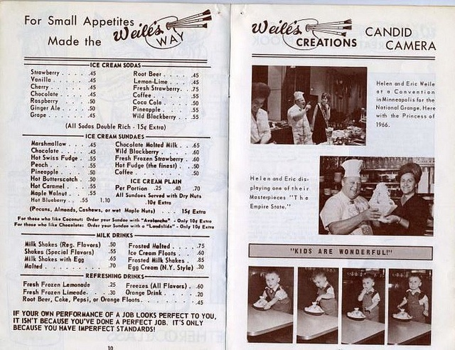 Menu From Weileu0027s Ice Cream Shop, Langley Park, Maryland C (via Bladensburg  High School Class Of 1959 Presents Vintage Photos Of PG County)